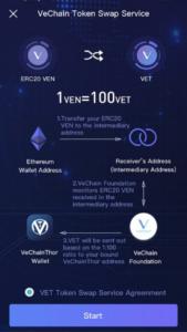 vechain app einstellungen